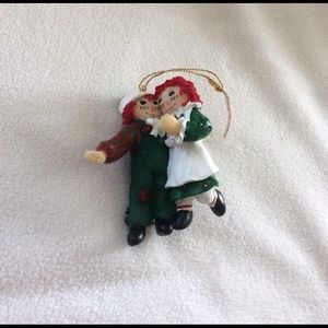 Raggedy Ann and Andy ornament collectible 1998 EUC